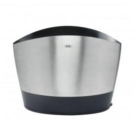 Pot à ustensiles en inox brossé