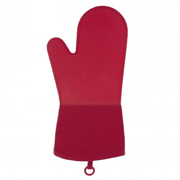 Gant de cuisine en silicone rouge