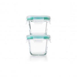 Set 2 boîtes de conservation en verre smart Seal 118 ml