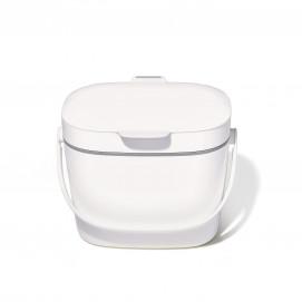 Bac à compost de cuisine blanc 6,6 L