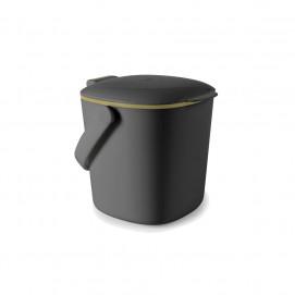 Bac à compost de cuisine gris 2,8 L Gris anthracite
