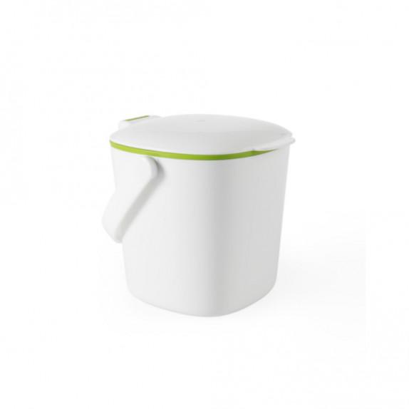 Bac à compost de cuisine blanc 2,8 L