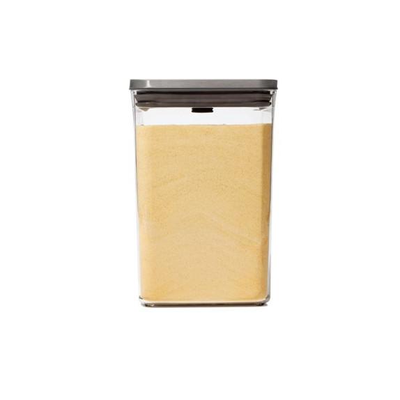Boîte de conservation POP carrée finition inox 4,2 L
