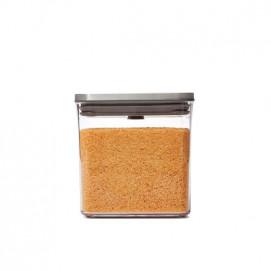 Boîte de conservation POP carrée finition inox 2,6 L