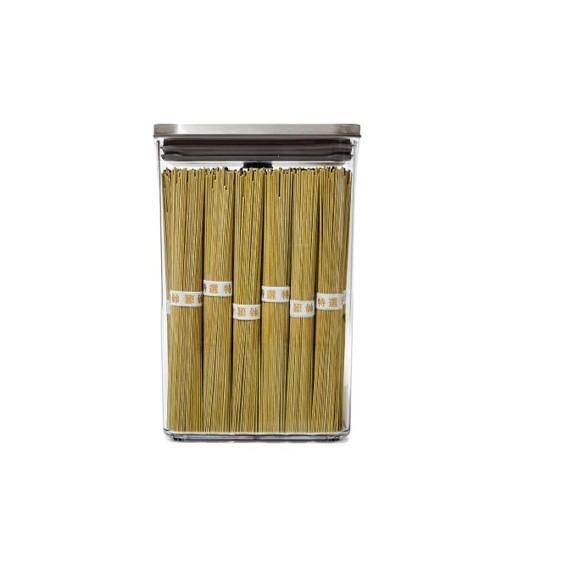 Boîte de conservation POP rectangulaire finition inox 2,6 L